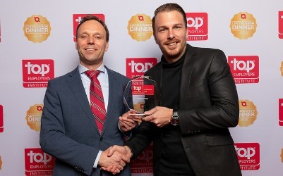 Foto uitreiking Top Employer award 2019