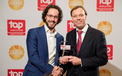 Foto overhandiging Top Employer award 2018