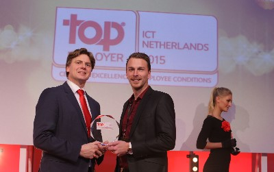 Foto uitreiking Top Employer ICT Award 2015