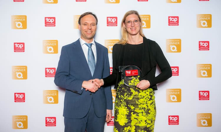 Foto uitreiking Top Employer Nederland award 2020