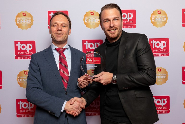 Foto uitreiking Top Employer Nederland award 2019